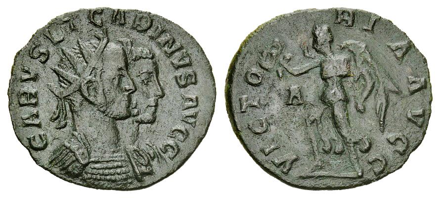 Carus - Carinus - Numerien et Sol sur une même monnaie 005068_l