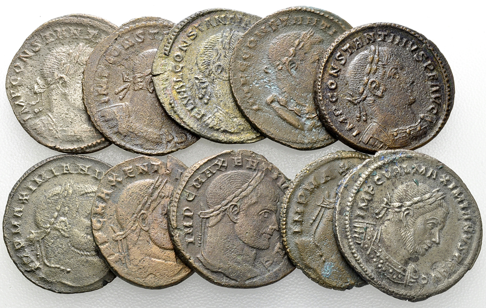 Lot of 10 Roman Imperial AE Nummi