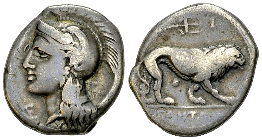 Velia AR Nomos, c. 300-280 BC, signed by Philistion