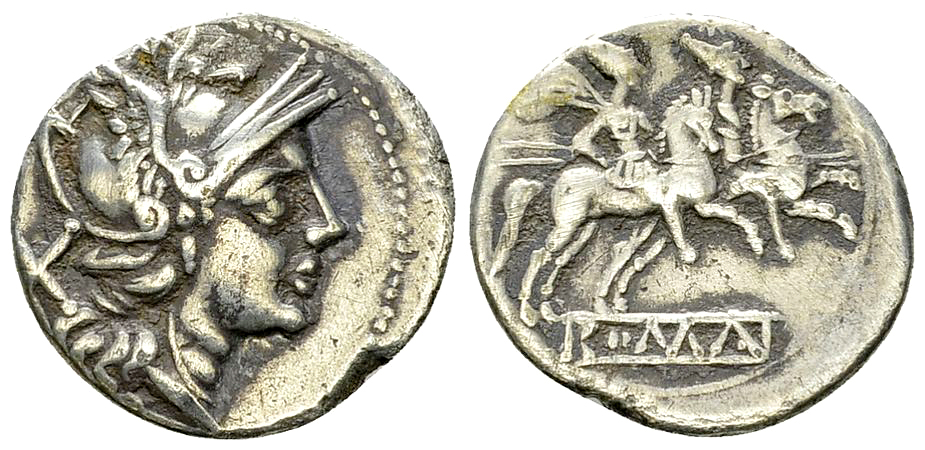 Anonymous AR Denarius, after 211 BC