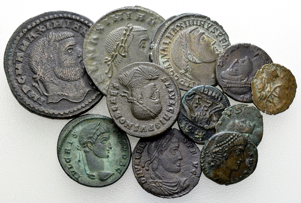 Lot of 11 Roman imperial AE coins