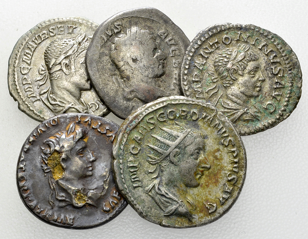 Lot of 5 Roman imperial coins