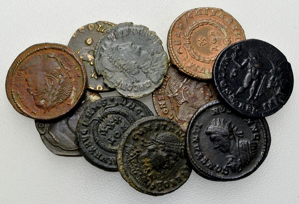 Lot of 10 Roman imperial AE coins