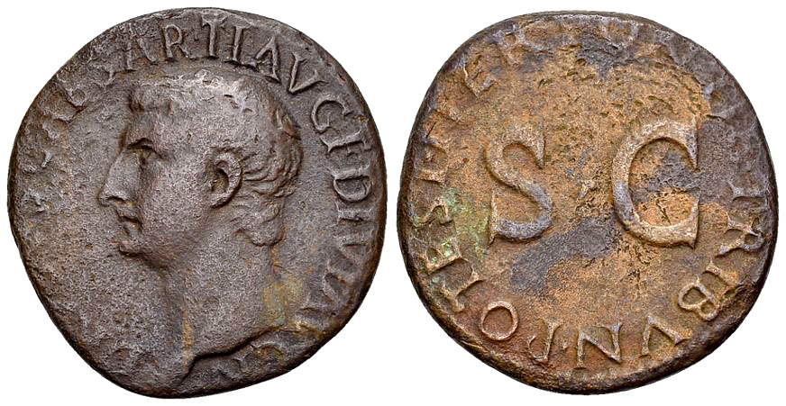 Drusus AE As, large SC reverse